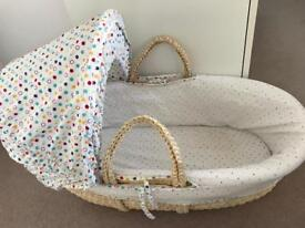 Mothercare Moses Basket & mattress