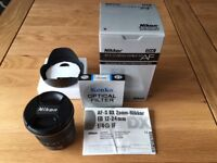 Nikon 12-24 mm DX Zoom Nikkor F/4.0 AF-S IF G ED Lens