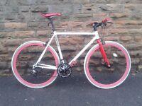 "Mango Custom Made Hybrid 22"" Road Bike Racer 9x2 speed"