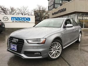 2016 Audi A4 KOMFORT PLUS/ Quattro/8SP/LEATHER/SUNROOF/
