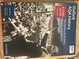Used A Level AQA History: The American Dream 1945-1980 Textbook