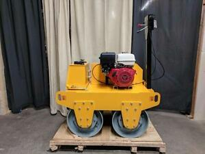 HOC HW600A - HONDA SINGLE DRUM WALK BEHIND VIBRATION VIBRATORY ROLLER + 3 YEAR WARRANTY + FREE SHIPPING CANADA WIDE !!!!