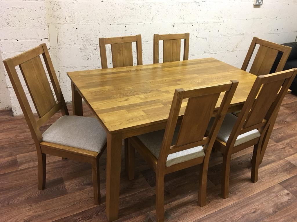 Oak Table 6 Chairs Free Delivery