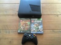 Xbox 360 console plus 2x Lego games
