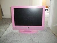 "19"" Pink TV, HD ready"