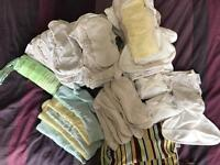 Pre-loved all-in-one birth to potty nappies.