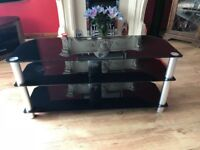 """Black glass TV stand for up to 50"""" TV"""