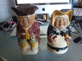 Wood & Sons England Betsy & Toby Jugs