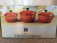 Cast iron saucepans