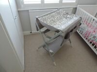 IKEA Space Saving Folding Changing Table SPOLING White and Grey Great Storage