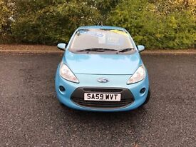 2009 FORD KA STYLE BLUE IDEAL FIRST CAR MUST SEE 63,000 MILES £30 ANNUAL ROAD TAX £3495 OLDMELDRUM
