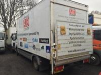 Mercedes atego 815 2001 box tail lift breaking