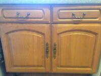 Wood kitchen door fronts and drawer fronts with handles & hinges.