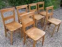 OLD CHURCH CHAIRS. 10 AVAILABLE. Delivery possible. ALSO DIFFERENT CHAPEL CHAIRS & PEWS.