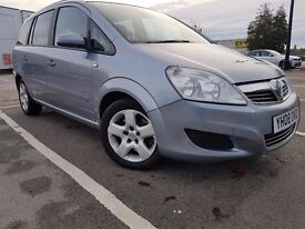 2008 Vauxhall Zafira 1.9 CDTi diesel Breeze 5dr silver 5 door price to sell only £1825