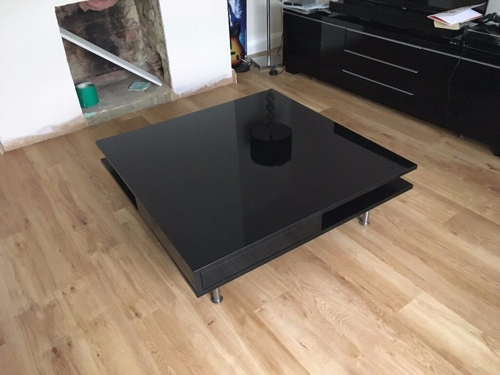 Ikea Tofteryd Coffee Table High Gloss Black Reduced In Fareham  # Tofteryd Meuble Tv