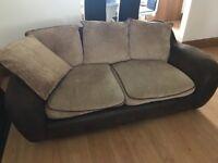 3 seater sofa x 2 + pufet