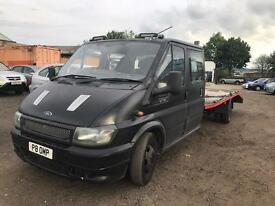 Ford transit recovery truck 18 ft bed crewcab 6 seater