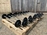 (1 SSTC) 12 x Pump Weight Sets (£40 per Set) (Bent Bars) (Delivery Available)