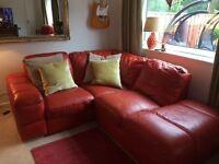 Tangerine corner suite and swivel chair
