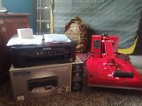 Heat Press and Sublimation Printer