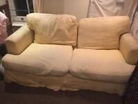 2 x sofa's yellow asap
