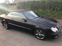 2005 Mercedes clk 280, 228bhp, low miles only 60200, 3.0v6 Convertible, not Porsche, van