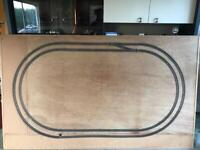 Hornby train set train track on Backing Board 00 Gauge Unfinished Project Sturdy