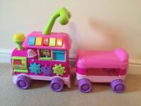 Tess Toys Ladybird Pink Walker Ride On Learning Train In Excellent Condition in pink. £17 ONO