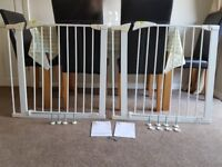 Pair of Mothercare stair gates with extenders