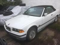 '94 BMW E36 3 series 325i USA Import LHD Rolling Shell - Alpina white unregistered convertible