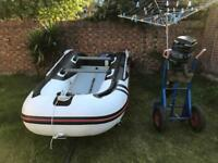 Suzumar Rib boat with Mercury 20 HP outboard Serviced engine