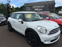 Mini Cooper Paceman Coupe 1.6 Stunning Bright White/full black leather (heated) seats, Full DSH