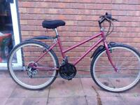 "Girls Dark Pink Mountain Bike - Raleigh 24"" wheels £45 - M'BRO"
