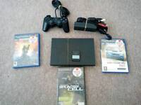 PlayStation 2 Console, a single controller and games