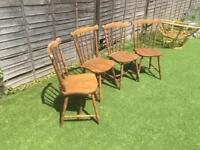 Set of 4 wooden kitchen/dining chairs