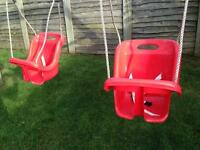 2 highback baby swing seats £20 for the pair