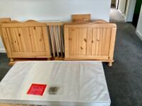 Pine cot bed / first single bed
