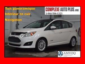 2013 Ford C-Max Hybride SEL *Navi/GPS,Cuir,Toit pano. Hayon élec