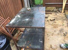 Metal tool table