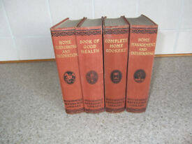 SET OF 4 BOOKS FROM HOUSEHOLD REFERENCE LIBRARY - 1930s - RARE