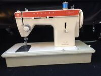 Vintage Singer 367 Sewing Machine with Case and Original Manual