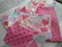 Next girls single bedding & matching curtains