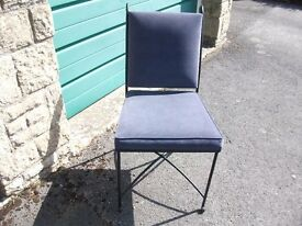 M & S metal frame dining chairs x 4-------£25 make us an offer -------they have to go