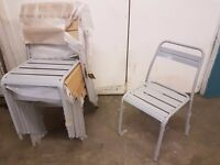 6x Metal Grey Chairs Kitchen/Dining/Garden BRAND NEW High Quality!! £25.00 EACH