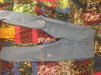 Topshop Joni jeans blue with knee rips