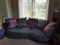 DFS large sofa & cuddler chair