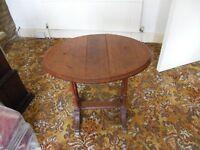 Vintage oval dropleaf table