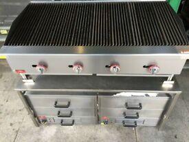 NEW GAS 4 BURNER BBQ KEBAB PERI PERI CHICKEN GRILL FAST FOOD RESTAURANT SHOP BAR