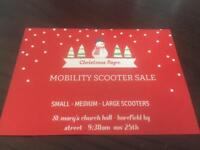 Sat 25th harefield st Mary's church . We buy - sell - part ex mobility scooters